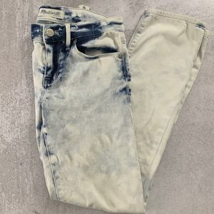 Madewell Acid Wash White Blue Jeans 24 B2 0016
